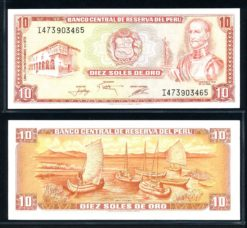 Peru 1976 10 Soles bankbiljet UNC Pick 112