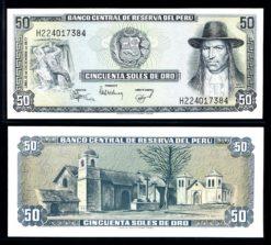 Peru 1977 50 Soles bankbiljet UNC Pick 113