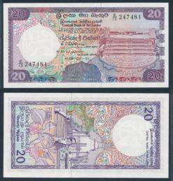 Sri Lanka 1989 20 Rupees bankbiljet UNC Pick 97b