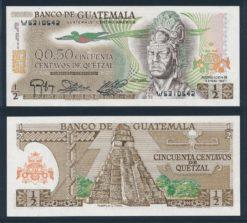Guatemala 1983 0,50 Quetzal bankbiljet UNC Pick 58c
