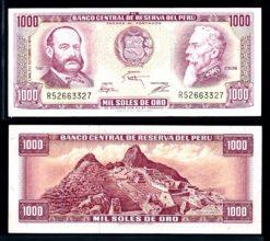 Peru 1975 1000 Soles bankbiljet UNC Pick 111