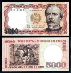 Peru 1985 5000 Soles bankbiljet UNC Pick 117c