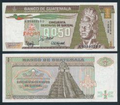 Guatemala 1988 0,50 Quetzal bankbiljet UNC Pick 65