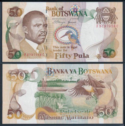 Botswana 1982 50 Pula bankbiljet UNC Pick 14 1