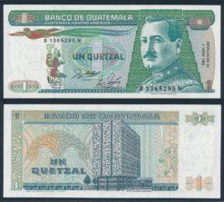 Guatemala 1988 1 Quetzal bankbiljet UNC Pick 66