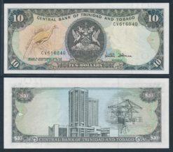 Trinidad en Tobago 1985 10 Dollars bankbiljet UNC Pick 38d