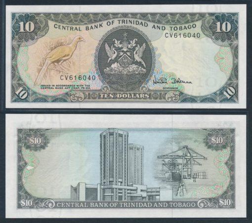 Trinidad en Tobago 1985 10 Dollars bankbiljet UNC Pick 38d 1