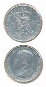 Nederland Zilveren Gulden Wilhelmina 1892