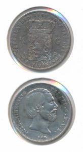 Nederland Zilveren Halve Gulden Willem III 1860