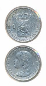 Nederland Zilveren Gulden Wilhelmina 1897