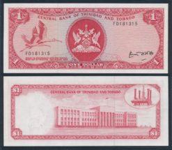 Trinidad en Tobago 1977 1 Dollar bankbiljet UNC Pick 30b