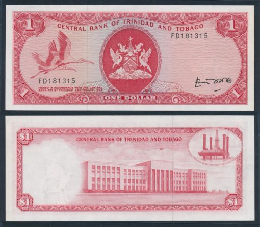 Trinidad en Tobago 1977 1 Dollar bankbiljet UNC Pick 30b 1