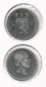 Nederland Zilveren Halve Gulden Willem III 1861