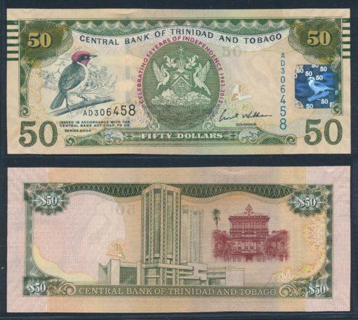 Trinidad en Tobago 2012 50 Dollars Gelegenheids bankbiljet UNC Pick 53 1