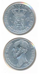 Nederland Zilveren Gulden Willem II 1845 A