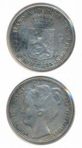Nederland Zilveren Gulden Wilhelmina 1901