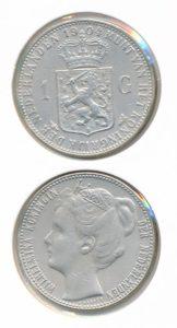 Nederland Zilveren Gulden Wilhelmina 1904