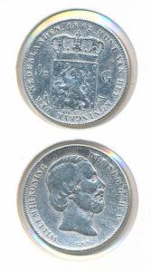 Nederland Zilveren Halve Gulden Willem III 1862