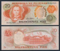 Filipijnen ND 1970 20 Piso bankbiljet UNC Pick 155