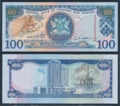 Trinidad en Tobago 2002 100 Dollars bankbiljet UNC Pick 45b