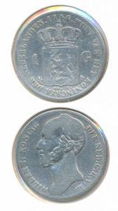 Nederland Zilveren Gulden Willem II 1846 Lelie