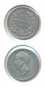 Nederland 25 Cent Willem II 1849