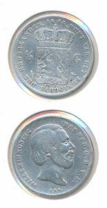 Nederland Zilveren Halve Gulden Willem III 1866
