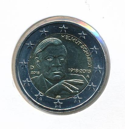 Duitsland 2018 A 2 Euro 100e Verjaardag Helmut Schmidt 1