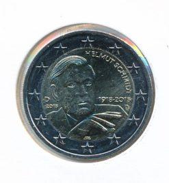 Duitsland 2018 D 2 Euro 100e Verjaardag Helmut Schmidt