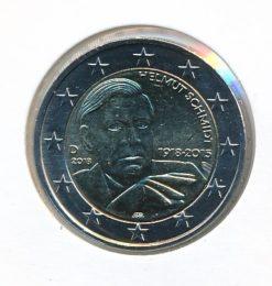 Duitsland 2018 F 2 Euro 100e Verjaardag Helmut Schmidt