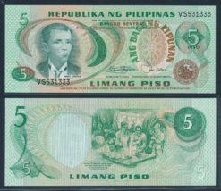 Filipijnen ND 1978 5 Piso bankbiljet UNC Pick 160b