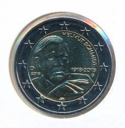 Duitsland 2018 G 2 Euro 100e Verjaardag Helmut Schmidt