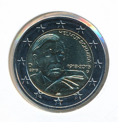 Duitsland 2018 G 2 Euro 100e Verjaardag Helmut Schmidt 1