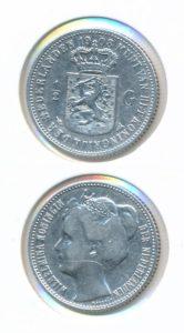 Nederland Zilveren Halve Gulden Wilhelmina 1908