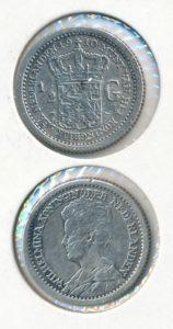 Nederland Zilveren Halve Gulden Wilhelmina 1910