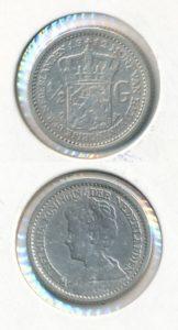 Nederland Zilveren Halve Gulden Wilhelmina 1912