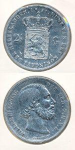 Nederland Zilveren Rijksdaalder Willem III 1851 A