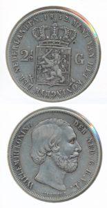 Nederland Zilveren Rijksdaalder Willem III 1852 A
