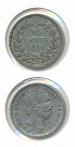 Nederland 25 Cent Willem III 1890 Type A