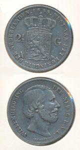 Nederland Zilveren Rijksdaalder Willem III 1855
