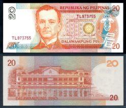 Filipijnen 1995 20 Piso bankbiljet UNC Pick 182a
