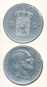 Nederland Zilveren Rijksdaalder Willem III 1865 A
