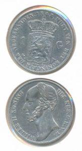 Nederland Zilveren Gulden Willem II 1848