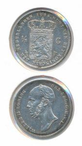 Nederland Zilveren Halve Gulden Willem II 1848