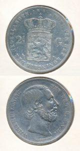 Nederland Zilveren Rijksdaalder Willem III 1866