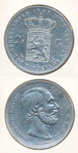 Nederland Zilveren Rijksdaalder Willem III 1868