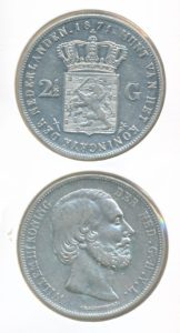 Nederland Zilveren Rijksdaalder Willem III 1871