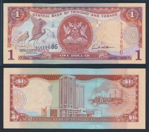 Trinidad en Tobago 2002 1 Dollar bankbiljet UNC Pick 41b 1