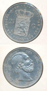Nederland Zilveren Rijksdaalder Willem III 1874