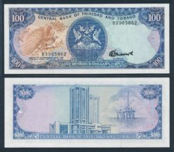 Trinidad en Tobago 1985 100 Dollars bankbiljet UNC Pick 40c
